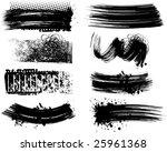 8 grunge brushes line | Shutterstock .eps vector #25961368