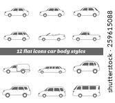 cars icons set   illustration | Shutterstock .eps vector #259615088