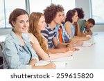 fashion students taking notes... | Shutterstock . vector #259615820