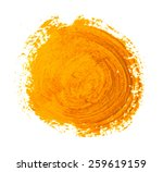 the yellow orange circle paint... | Shutterstock .eps vector #259619159