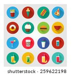 flat icons for web and mobile... | Shutterstock .eps vector #259622198
