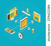 isometric design modern vector... | Shutterstock .eps vector #259622384