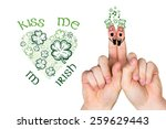 patricks day fingers against... | Shutterstock . vector #259629443