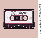 cool detailed vector mixtape... | Shutterstock .eps vector #259634024