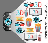 background of movie elements... | Shutterstock .eps vector #259636064
