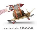 snail with speed | Shutterstock . vector #259636544