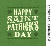 saint patrick's day  ... | Shutterstock .eps vector #259636778