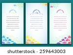 Set Of Three Vertical Banners...