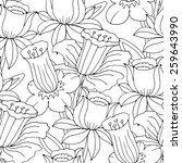 vector seamless pattern with... | Shutterstock .eps vector #259643990