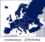 europe political blank map | Shutterstock .eps vector #259645466