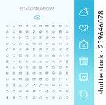 universal outline icons for web ... | Shutterstock .eps vector #259646078