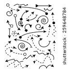 vector set of black arrow   Shutterstock .eps vector #259648784