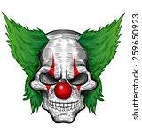 clown skull isolated on white...   Shutterstock .eps vector #259650923
