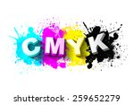 3d cmyk letters with paint... | Shutterstock .eps vector #259652279