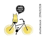 Cute Sketch Cat On The Lemon...