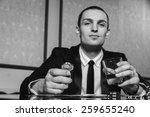 Small photo of Excitable guy playing poker