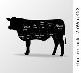 vector illustration of cow... | Shutterstock .eps vector #259655453