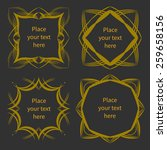 four golden frames with place...   Shutterstock .eps vector #259658156
