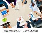 diversity business team... | Shutterstock . vector #259665500