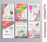 white creative brochure...   Shutterstock .eps vector #259665773