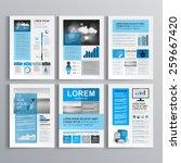 classic brochure template... | Shutterstock .eps vector #259667420
