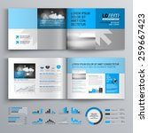 classic brochure template...   Shutterstock .eps vector #259667423
