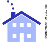 blue house vector logo design... | Shutterstock .eps vector #259667708