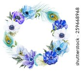 Wreath  Watercolor  Flowers ...