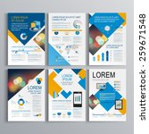 geometric brochure template... | Shutterstock .eps vector #259671548