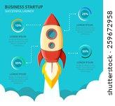 space rocket launch. start up... | Shutterstock .eps vector #259672958