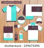 vector white promotional... | Shutterstock .eps vector #259673390