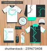 vector white promotional... | Shutterstock .eps vector #259673408