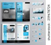 classic brochure template... | Shutterstock .eps vector #259678724