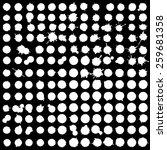 ink blot collection of 170 ...   Shutterstock .eps vector #259681358