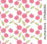 simple flower doodle seamless... | Shutterstock .eps vector #259686083