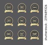 a set of seller's golden hollow ... | Shutterstock .eps vector #259689326