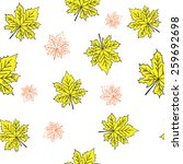 seamless pattern with maple... | Shutterstock .eps vector #259692698