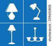 lamp icons | Shutterstock .eps vector #259692800