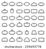 thirty six labels isolated on... | Shutterstock .eps vector #259693778