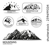 set of mountain and expedition... | Shutterstock .eps vector #259699334