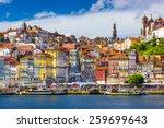 porto  portugal old town... | Shutterstock . vector #259699643