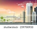 modern futuristic industrial... | Shutterstock .eps vector #259700933
