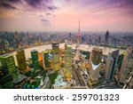 shanghai  china cityscape... | Shutterstock . vector #259701323