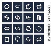 dark background 16 icon set of...