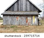 Old Country Farm Barn With...