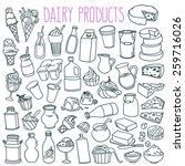set of various doodles  hand... | Shutterstock .eps vector #259716026