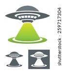 Постер, плакат: UFO Vector Illustration Usable as