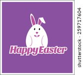 happy easter logo and emblem on ... | Shutterstock .eps vector #259717604
