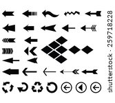 big collection of arrow icon... | Shutterstock .eps vector #259718228
