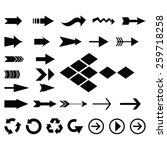 big collection of arrow icon... | Shutterstock .eps vector #259718258